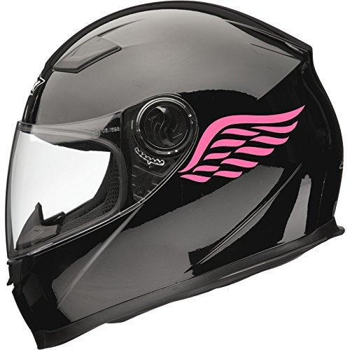 Xaevon Calcomanías Adhesivas para Casco de Moto Angel Wings (2 Unidades, 80 mm x 40 mm), Color Rosa