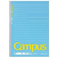 コクヨ キャンパスノートセミB5 「幅広ドット入り罫線」 U罫 ノ-D3UTN 【15冊セット】