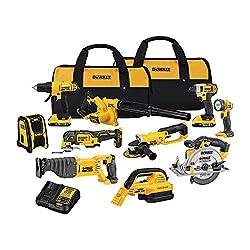 in budget affordable DEWALT 20V MAX Cordless Drill Combination Set, 10 Tools (DCK1020D2)