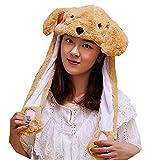 Sombrero de animal de la oreja que se mueve el sombrero de salto surge las orejas del sombrero de la felpa del sombrero de la cabeza para las mujeres Perro. Talla única