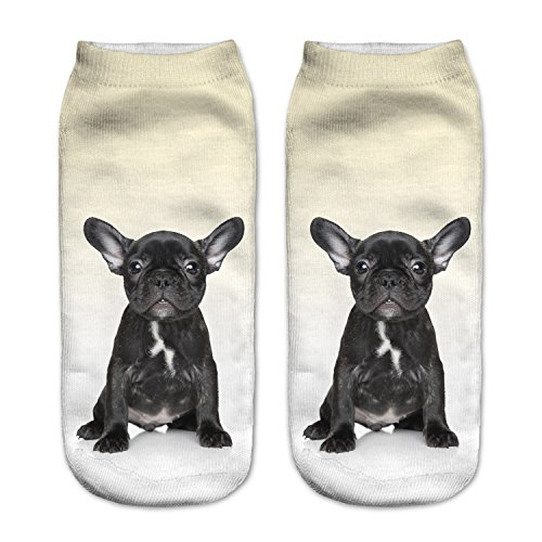 Calcetines tobilleros, de Fringoo, divertidos, para niños y adolescentes French...