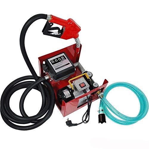 Heizölpumpe Dieselpumpe Elektrische Diesel Kraftstoff-Umfüllpumpe Zähler Automatik Kraftstoffpumpe Kraftstoffdüse Kraftstoff/Öl Biodiesel Pumpe Spenderset 550 W 60 L 3600 l/h Dieselförderung