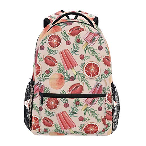 Rucksack Sommer EIS Und Cranberry Geburtstagsgeschenk Bookbag Boys Leichte Schule Gemütliche Daypack Student Rucksack Print Casual Fashion College Travel Durable Travel Girls Scho