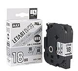 ビーポップミニ テープカセット 強粘着 18mm幅 銀に黒文字 LM-L518BMK