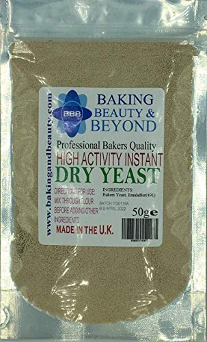 50g Professional Bakers Instant Dry Yeast Perfect for Hand Baking or Bread Machines