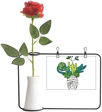YaoX Horus Botany Mummy Plant Cactus Artificial Rose Flower Hanging Vases Decoration Bottle