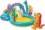 Piscina Inflable, Piscina de Dinosaurio Juguetes de aspersión Piscina Inflable para niños al Aire Libre Jardín al Aire Libre Fiesta de Agua de Verano (Color: Azul, Tamaño: 229 * 112cm)