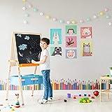 Teamson Kids 3 en 1 Caballete De Madera para Niños con Dibujo Pizarra Blanca Ajustable y Accesorios TK-FB028G
