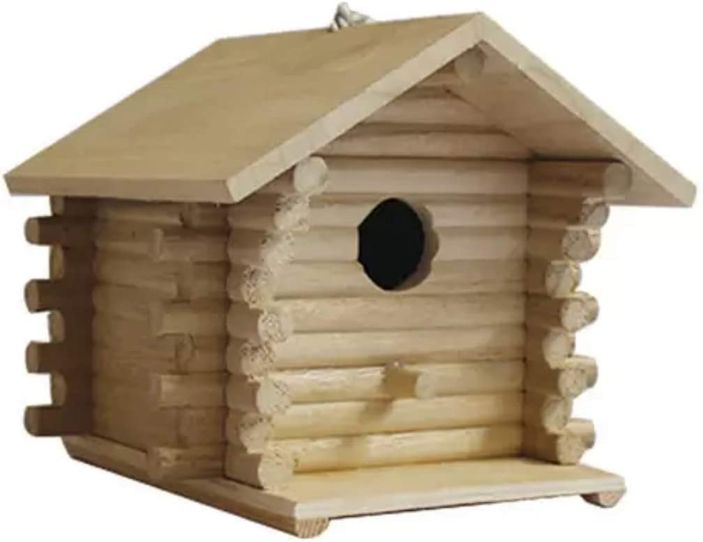 Unfinished Ready to Paint Al sold out. Birdhouse Log Ranking TOP18 Wood Cabin