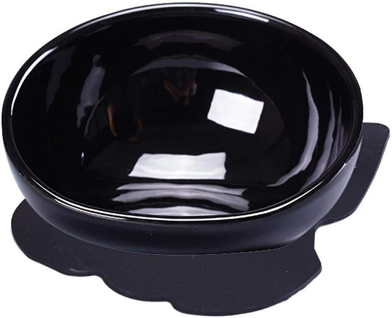 Dixinla Pet food bowl Pet tableware black on glazed porcelain bowl Bulldog Bowl Cat Bowl pet food Bowl