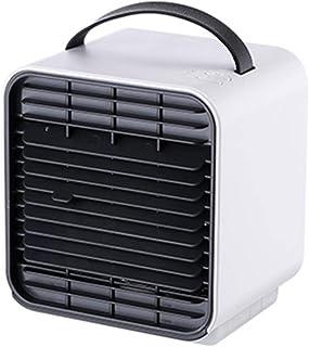 ZXQZ Ventilador eléctrico Ventilador Eléctrico, Ventilador de Aire Acondicionado Portátil Portátil Silencioso USB, Mini Ventilador de Dormitorio Ajustable para Estudiantes, 127x120x132 Mm