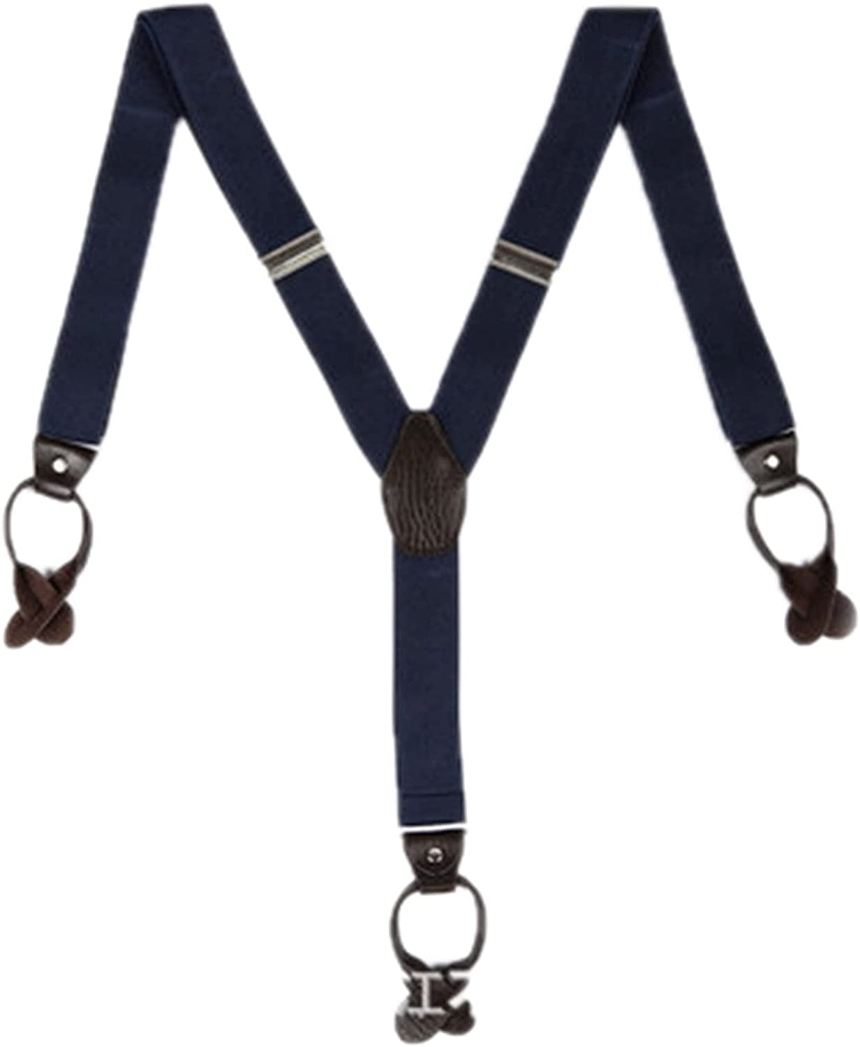 Mens Suspenders for Jeans with 3 Clips Y Back Adjustable Heavy Duty Suspenders with Hooks