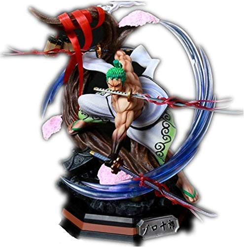 "BGQ One Piece Figure Roronoa Zoro Wano Mad Tiger Figure Anime 15.3""38cm Figure Action Figure"