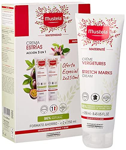 Mustela 48623 Crema per il corpo anti-smagliature, doppio formato, 2 x 250 ml