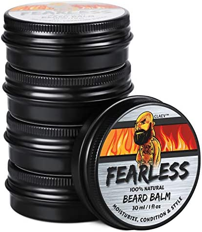 Beard Balm 1 oz 5 Pack 100 Natural Beard Conditioning Styling Balm with Vegan Beeswax Shea Butter product image