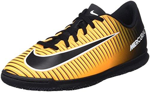 Nike Jr Mercurialx Vortex III IC, Botas de fútbol Infantil, Naranja (Laser Orange/Black/White/Volt), 38.5 EU