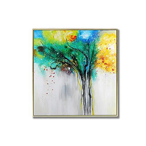 LEPOTN Hand Geschilderde Olieverfschilderij 100% Handbeschilderd Abstract Bloemen Kunst Olieverfschilderij Op Doek Muur Kunst Muurdecoratie Foto's Schilderen Voor Live Kamer Thuis Decor,Geen Frame 28