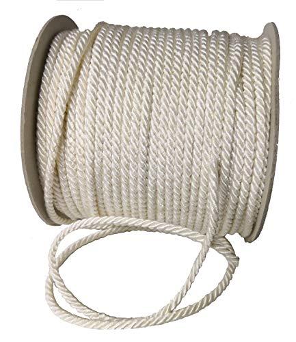 Nastro corda cordino 3 mm x 100 metri 3 capi Cordoncino (AVORIO)
