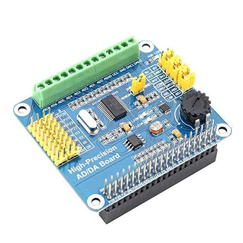 Bewinner Hochpräzise AD/DA-Erweiterungskarte für Raspberry Pi A + / B + / 2B / 3B / 3B + - Erweiterungsplatine mit 8-Kanal-24-Bit-ADC und 2-Kanal-16-Bit-DAC