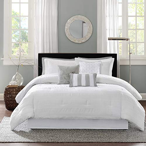 White Cullen Comforter Set California King 7pc