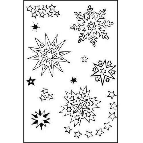 efco–Stempel klare Sterne 01A7/74x 105mm 11Teil transparent, 11x 8x 2cm