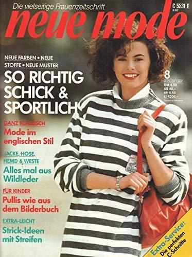 Neue Mode Nr. 08/1987 Jacke, Hose, Hemd & Weste Alles mal aus Wildleder