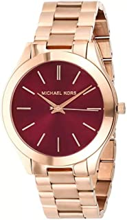 Michael Kors Women's Purple Dial Stainless Steel Band Watch - MK3436