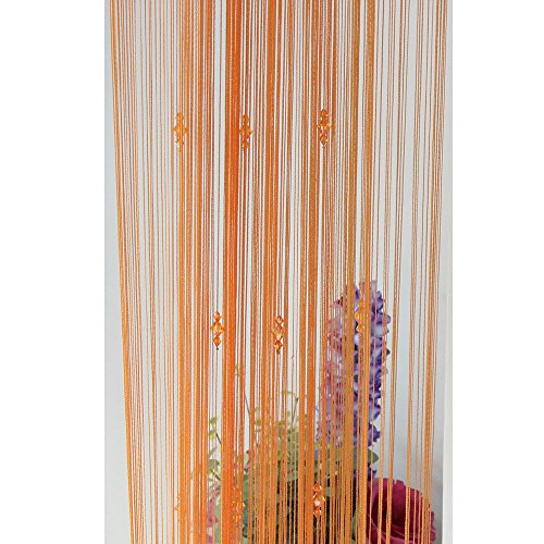 100x200 cm String Curtain Beads Wall Panel Fringe Window Divider Blind for Wedding Coffee House Restaurant Parts Crystal Tassel Screen Home Decoration Orange