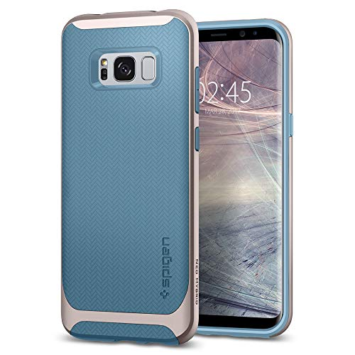 Spigen 565CS21595 Neo Hybrid für Samsung Galaxy S8 Hülle, Zweiteilige Handyhülle Modische Muster Silikon und PC Rahmen Schutzhülle Case Niagara Blue