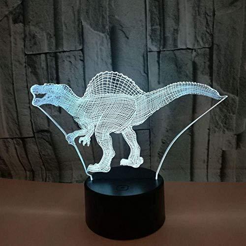YOUPING Lámpara de ilusión 3D led Luz de Noche Dinosaurio Colorido Toque Visual Decorativo Regalo Ambiente USB