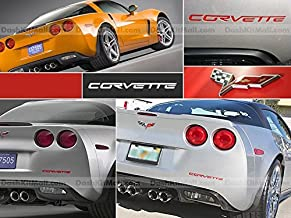 SF Sales USA - Red Plastic Letters fit Corvette C6 2005-2012 Rear Bumper Inserts Not Decals