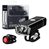 Bike Light Set, Solocil USB Recharging Mountain Bike Light Set Headlamp Rear Light, Front Light & Tail Light...