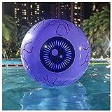 ZHMIAO Luces LED hinchables para Halloween, 40,6 cm, globo ocular de playa, 13 colores brillantes, juego de piscina, para adultos y niños, ideal para la piscina en la playa, fiestas al aire libre