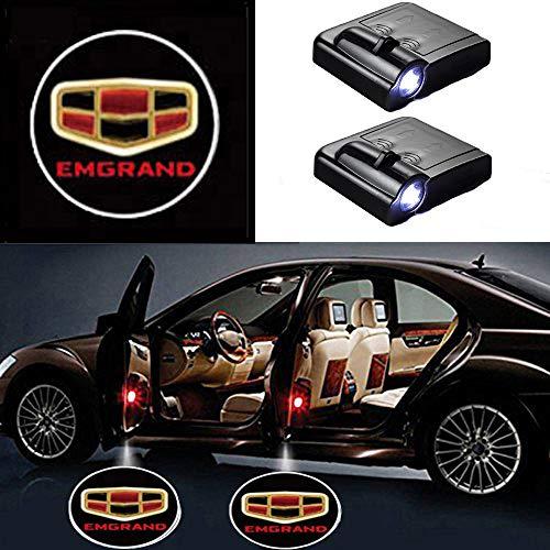 MIVISO LED Auto Projektor, 2 Stück Autotür Willkommen Schatten Licht, Universal Wireless Magnetic Sensor Shadow...