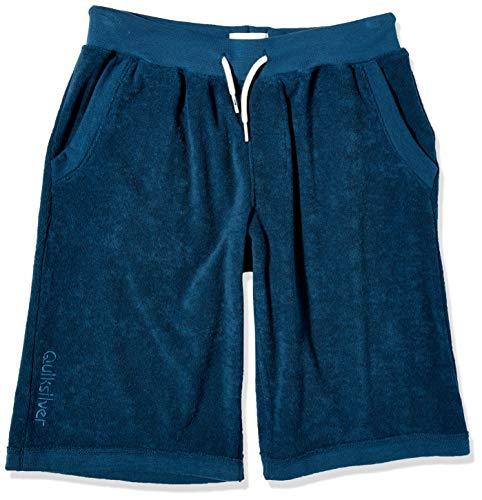 Quiksilver - Toalla Corta de Forro Polar para niños, Azul mayólica, M