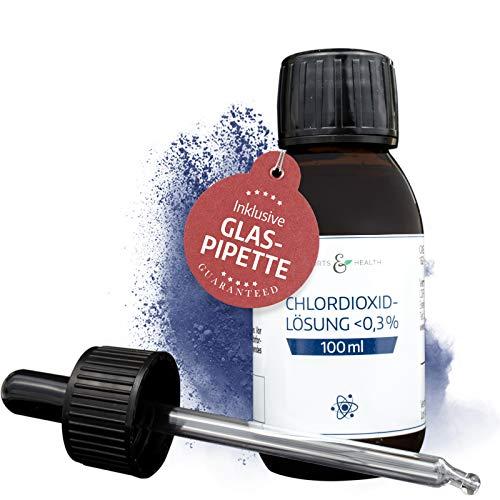 Chlordioxid 0,3 % Lösung – CDS - CDL – Extra hochwertige GLAS Pipette - Chlorine Dioxide Solution – 100 ml Braunglasflasche – Made in Germany (100 ml) - Trinkwasserdesinfektion