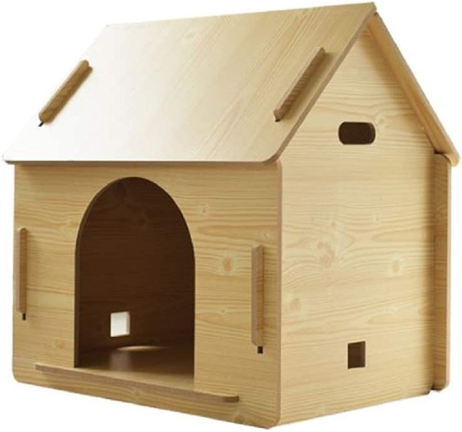 GDDYQ Dog House, Wooden Pet House Good Ventilation Easy to Install Easy to Clean, Suitable for All Seasons,1,M