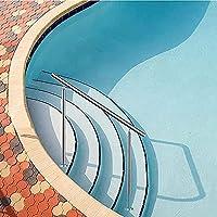 スイミングプールの手すり、屋内と屋外の階段用のステンレス鋼の手すりセット、調整可能な角度、簡単な設置