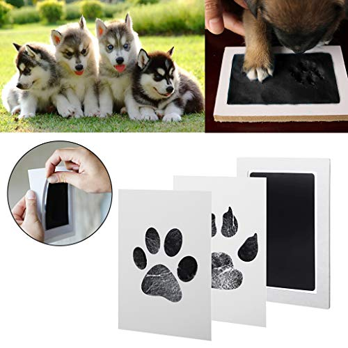 1 Set Baby Hand- und Fußabdruck Stempelkissen für Babys und Haustiere 17 * 12.5cm Schwarz