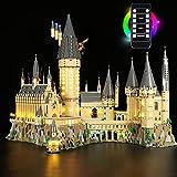 WWEI Juego de iluminación LED con mando a distancia para castillo de Harry Potter Hogwarts, iluminación LED, compatible con LEGO 71043, sin set Lego
