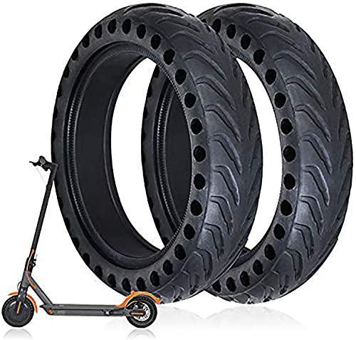 Massage-AED Neumáticos De Scooter Eléctrico,Neumático Sólido De Goma 8 1/2 X 2 Tubos Sólidos con Orificio De Panal Neumáticos De Repuesto para Patinete Eléctrico M365