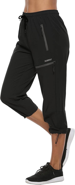 Long-awaited MOCOLY Women's service Cargo Hiking Pants Elastic Lightw Dry Quick Waist