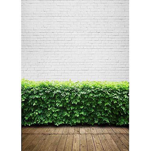 Fondos de fotografía de Tela artística Fondo de Estudio fotográfico con Tema de Pared y Suelo de ladrillo para Photocall Photo Zone A23 10x7ft / 3x2.2m