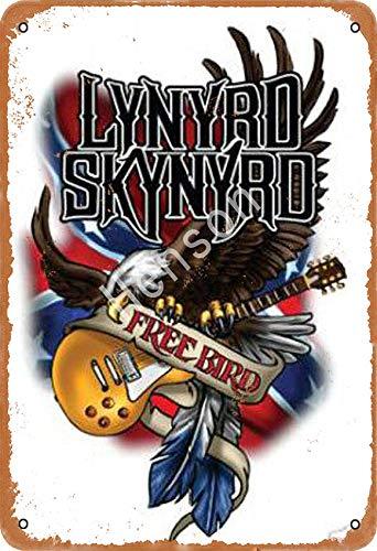 Henson Lynyrd Skynyrd Traditional Vintage Tin Sign Logo 12 * 8 Advertising Eye-Catching Wall Decoration