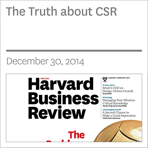 The Truth About CSR audiobook cover art