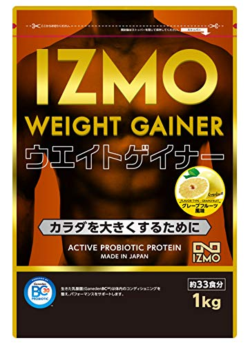 IZMO -イズモ- ウエイトゲイナー ホエイプロテイン + マルトデキストリン 1kg【約33食】グレープフルーツ風味 生きた乳酸菌BC-30配合(WPC アルプロン 国内生産)