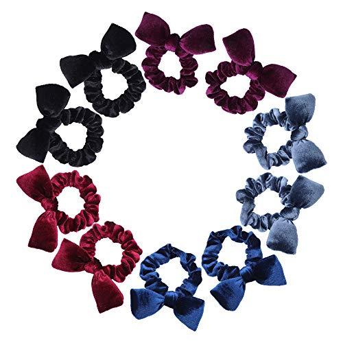 10 stuks haar Scrunchies, kleurrijke strik Velvet Scrunchy Bobbles elastische haarbanden voor vrouwen meisjes