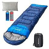 BISINNA Sleeping Bag with Pillow - 4 Season Backpacking Sleeping Bag Lightweight Waterproof Warm and...