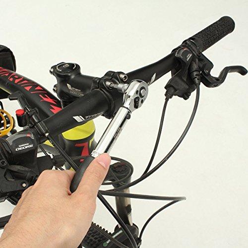 MOHOO Clé dynamométrique 1/4' 2~14NM Jeu de douilles à cliquet Kit de réparation Clé Dynamométrique avec Certification de Précision ± 4% pour vélo Voiture