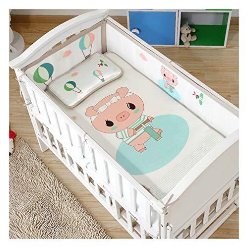 LFEWOX 4 Seiten Schutzbreathable Babynest Mesh Babybett Bettumrandung Luftdurchlässiges Mesh-Futter Baby Stoßfänger Kantenschutz Kopfschutz Für Jede Krippe,B